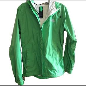 North Face Green Rain Jacket